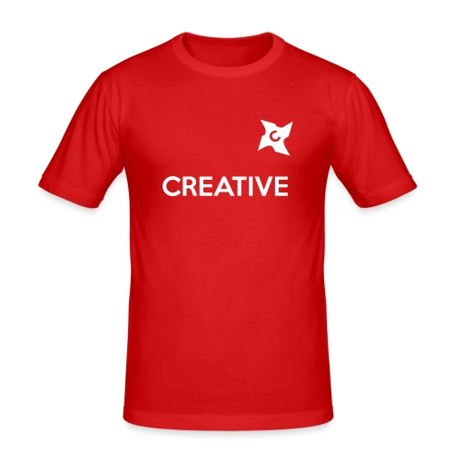 Creative long urban shirt - Herre Slim Fit T-Shirt