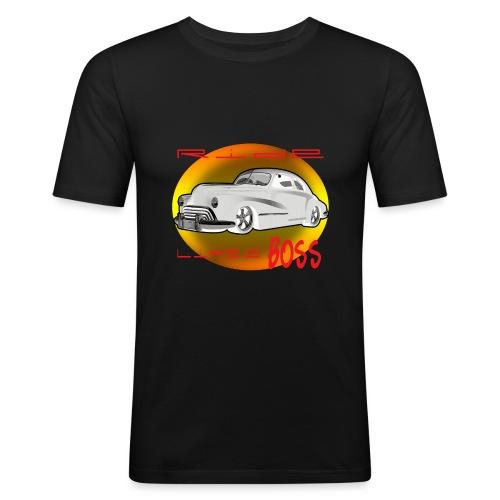 RIDEBOSS - Mannen slim fit T-shirt