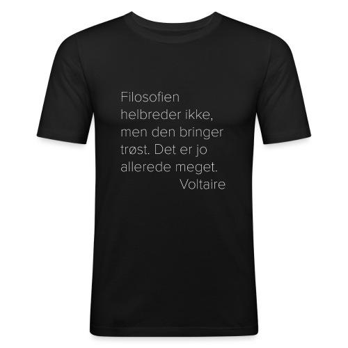 Voltaire om filosofien - Slim Fit T-skjorte for menn