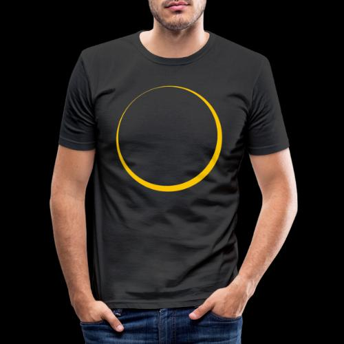 ECLIPSE - Yellow Sun - Maglietta aderente da uomo