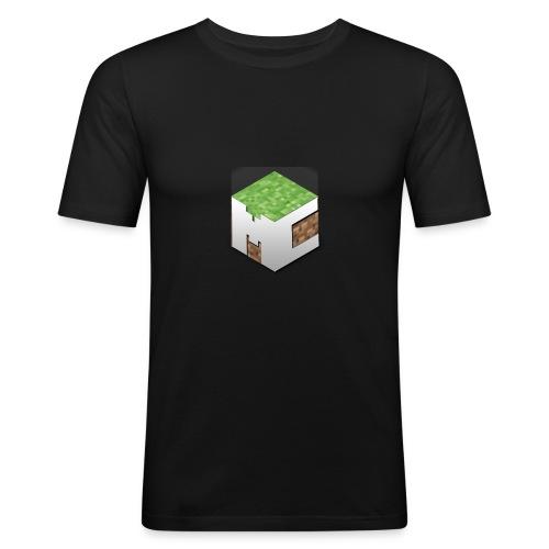MineCraft 3D - Mannen slim fit T-shirt
