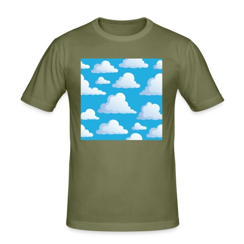 Cartoon_Clouds - Men's Slim Fit T-Shirt