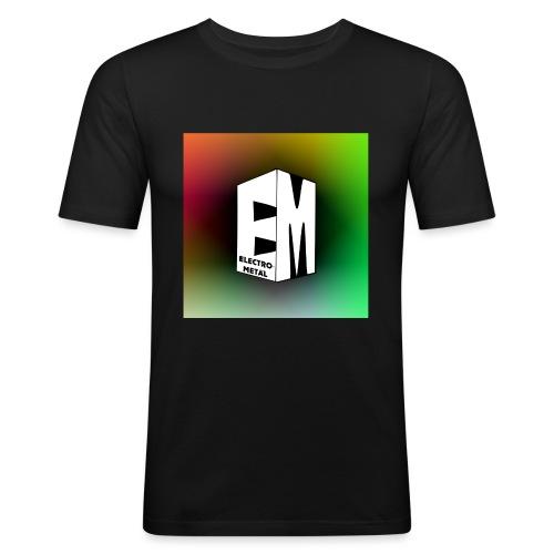 ElectroMetal_Logo - Men's Slim Fit T-Shirt