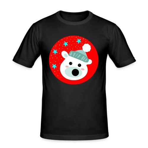 Winter bear - Men's Slim Fit T-Shirt