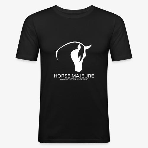 Horse Majeure Logo / Valkoinen - Miesten tyköistuva t-paita