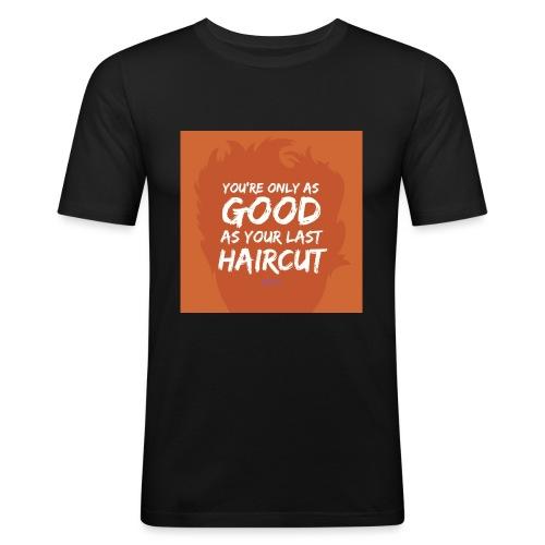 Orange_Toupee - Mannen slim fit T-shirt
