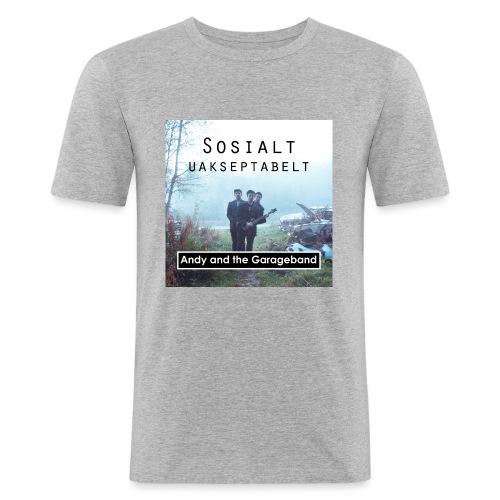 Sosialt Uakseptabelt - Slim Fit T-skjorte for menn