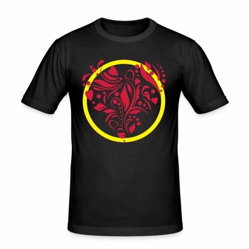 Herzemblem - Männer Slim Fit T-Shirt