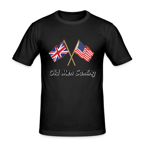 OMG logo - Men's Slim Fit T-Shirt
