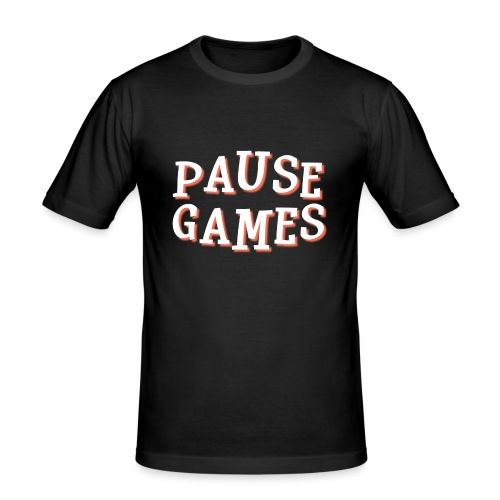 Pause Games Text - Men's Slim Fit T-Shirt