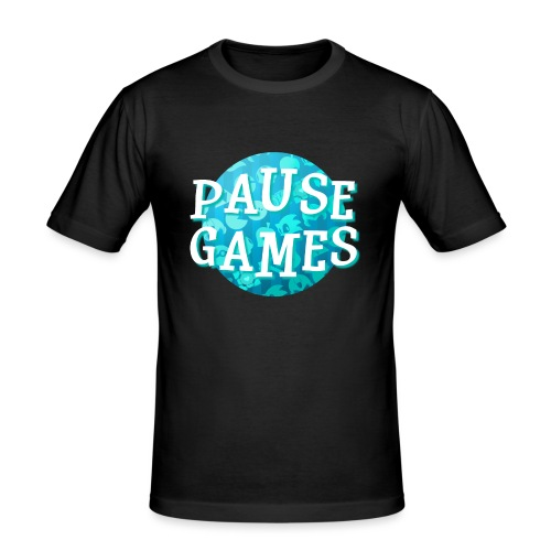 Pause Games New Design Blue - Men's Slim Fit T-Shirt