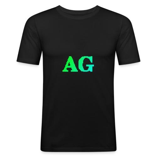 ATG Games logo - Miesten tyköistuva t-paita