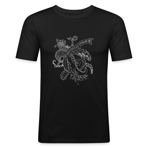 Fantasy hvid scribblesirii - Herre Slim Fit T-Shirt