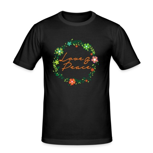 Love and Peace - Men's Slim Fit T-Shirt