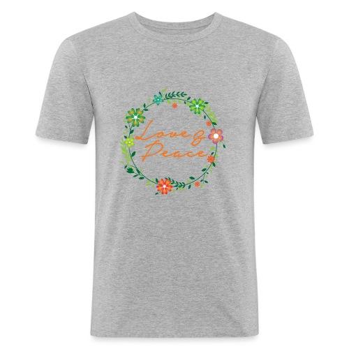 Love and Peace - Men's Slim Fit T-Shirt