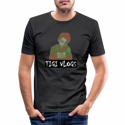 TIGIVLOGS JUL MERCH! - Slim Fit T-shirt herr