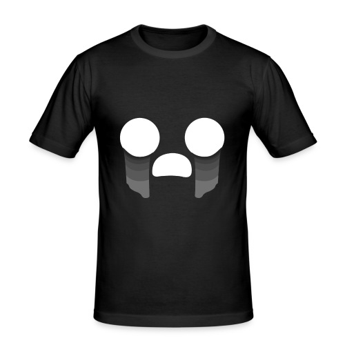 Visage triste - T-shirt près du corps Homme