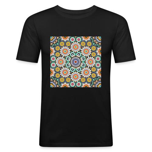 Zellij Motif - T-shirt près du corps Homme