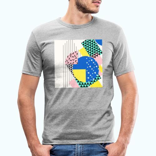 Retro Vintage Shapes Abstract - Men's Slim Fit T-Shirt
