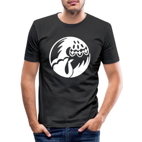Pfau weiss - Männer Slim Fit T-Shirt