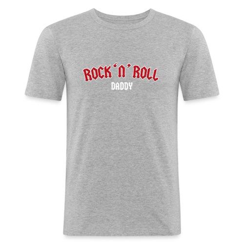 Rock 'n' Roll Daddy – lustige Geschenkidee - Männer Slim Fit T-Shirt