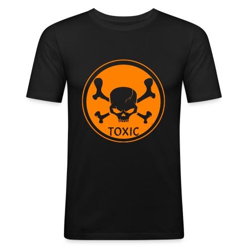 Skull Toxic Black & Orange - T-shirt près du corps Homme