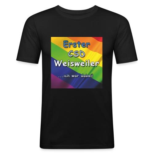 Erster CSD Weisweiler - Männer Slim Fit T-Shirt