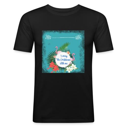 The caribean inside - Camiseta ajustada hombre