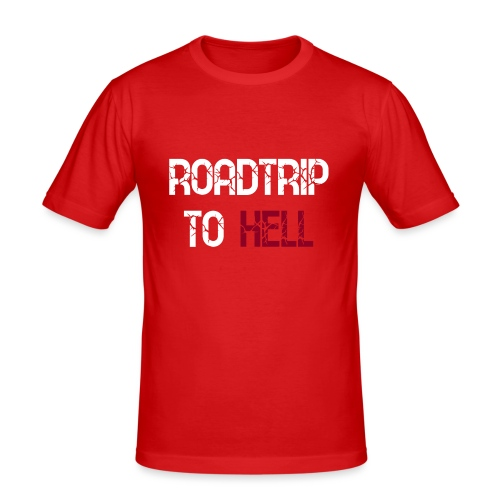 Roadtrip To Hell - Männer Slim Fit T-Shirt