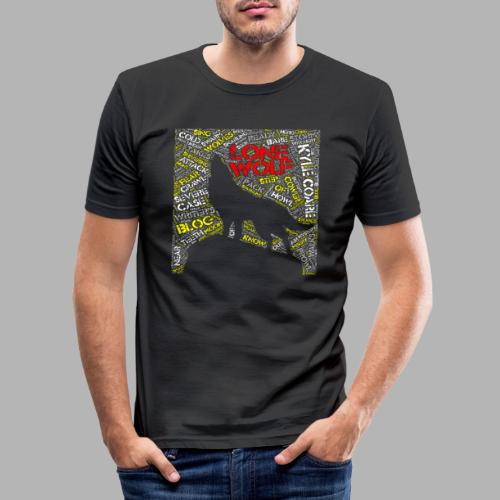 Lone Wolf - Men's Slim Fit T-Shirt