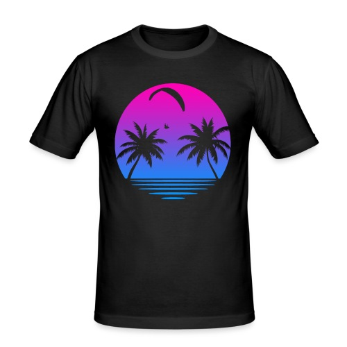 Paragliding Sunset - Männer Slim Fit T-Shirt