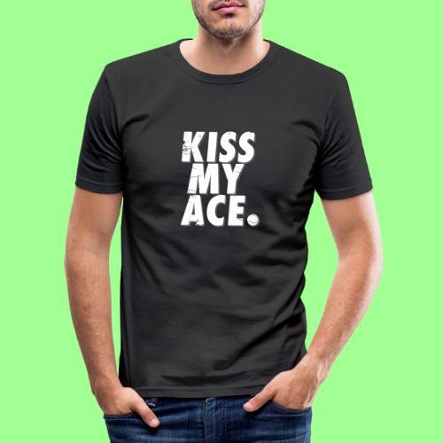 KISS MY ACE - Obcisła koszulka męska