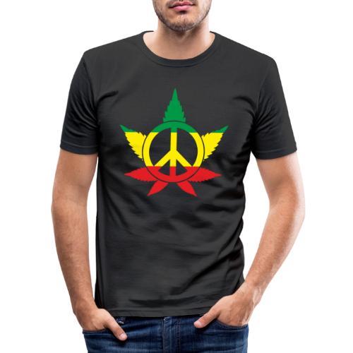 Peace färbig - Männer Slim Fit T-Shirt
