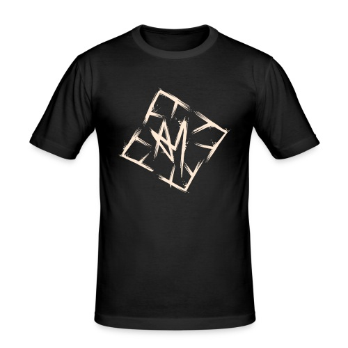 Across Yourself - Logo white transparent - Men's Slim Fit T-Shirt