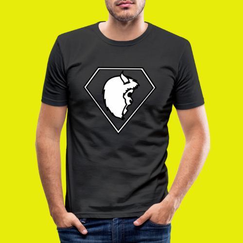 logo white - Men's Slim Fit T-Shirt