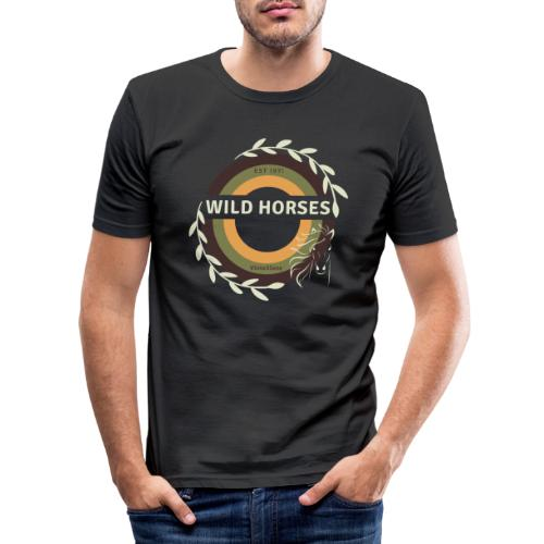 Wild Horses - Mannen slim fit T-shirt
