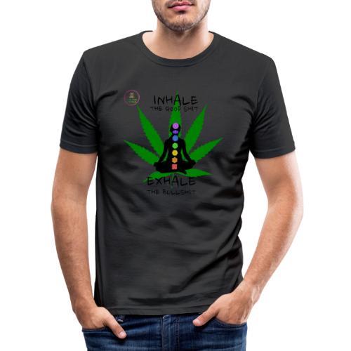 Yoga Ganja - T-shirt près du corps Homme