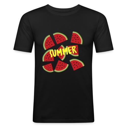 Sommer Sonne Wassermelone - Männer Slim Fit T-Shirt
