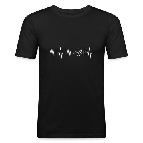 coffee Herzlinie - mein Herz schlägt für Kaffee - Männer Slim Fit T-Shirt