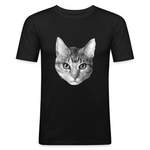 Katze Cat - Männer Slim Fit T-Shirt