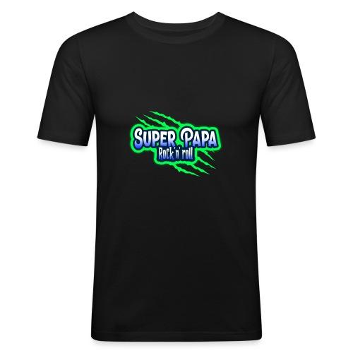 super papa rock'n' roll - T-shirt près du corps Homme