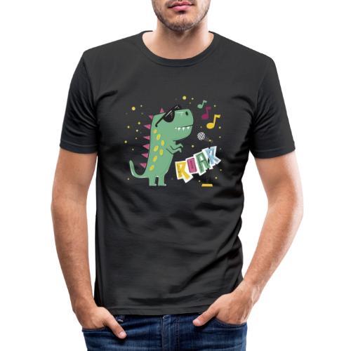 DINO MUSIC 1 - Camiseta ajustada hombre