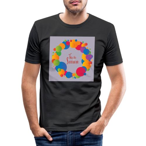 Magliette da donna con risvolti - Maglietta aderente da uomo