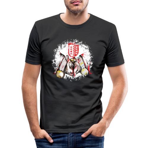 Vache d'hérens Eringer valais - T-shirt près du corps Homme