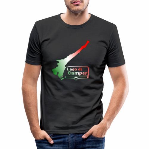 Lago di Camper / Lago die Garda - Männer Slim Fit T-Shirt