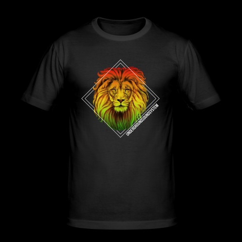 LION HEAD - UNDERGROUNDSOUNDSYSTEM - Männer Slim Fit T-Shirt