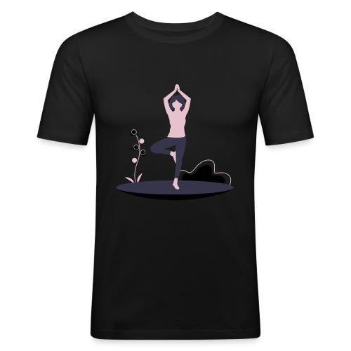 undraw yoga 248n - Camiseta ajustada hombre