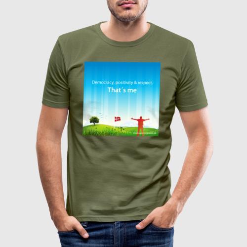 Rolling hills tshirt - Herre Slim Fit T-Shirt