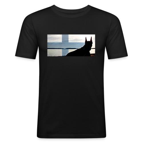 HUPPARITAUSTA2016 copy - Miesten tyköistuva t-paita