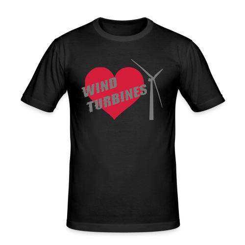 wind turbine grey - Men's Slim Fit T-Shirt